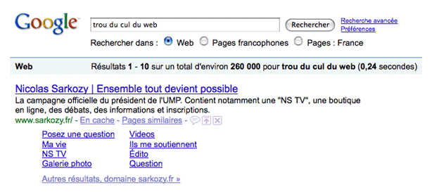 exemple de google bombing